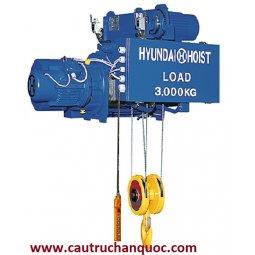 Palang cáp điện Hyundai 7.5 tấn 6m dầm đơn