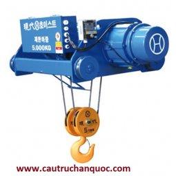 Palang cáp điện Hyundai 7.5 tấn 12m dầm đôi